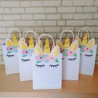 Paper bag unicorn - tas kertas goodie bag unicorn - 1 Pak isi 5