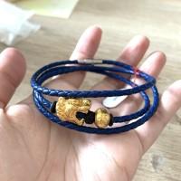 Gelang Pandora Charm Kepala Macan. Emas Hongkong 999 Kadar 24karat