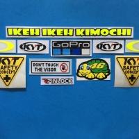 Cutting Sticker Stiker Visor Helm Sticker Set Paket KYT