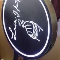 Neon box diameter 75 cm