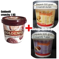 Promo bundling. GF crunchy 1 KG+ RPCK 500 gr durian+ RPCK 500 gr TALAS