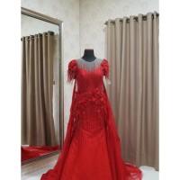 Jual Custom Long Ball Gown Dress Red Maroon For Mom Bride Sangjit Termurah Kota Surabaya Ann Shops Tokopedia