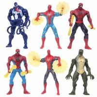 Figure Spiderman Set isi 6 Pc Tinggi 17 Cm