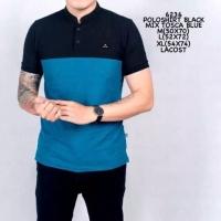 Polo Shirt Pria | Kaos Baju Cowok Shanghai Navy Mix Black