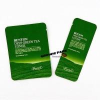 BENTON DEEP GREEN TEA TONER 2ml / LOTION 1.2ml