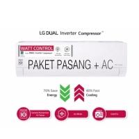 PEMASANGAN DKI + AC LG T10EV4 DUAL COOL ECO INVERTER 1 PK 1PK