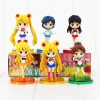 Banpresto Craneking Q-Posket Mini Figure Sailormoon W/Stand Set isi 6