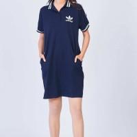 Dress Adidas Selutut, Lengan Pendek