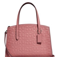 Coach charlie signature pink
