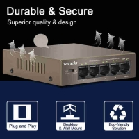 PoE Tenda TEF1105P TEF 1105 1105P 4 Port Power over Ethernet IP Camera