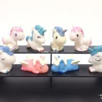 Figure Unicorn Cake Topper Set isi 8 Pc