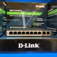 D-Link DES-F1010P-E 10/100 Switch with 8 PoE & 2 Uplink Ports