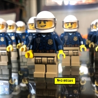 LEGO CTY0868 - Police Officer Male Minifigure with White Helmet