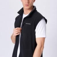 Rompi Columbia Mens Fast Trek Fleece Vest Black Grey Original Vespa