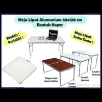 Meja Lipat HPL Koper original....Mudah Bawa Ringan Kuat Praktis Simpel