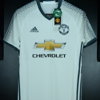 Jersey Manchester United 3rd Away 2016 2017 Putih Full Patch XL BNWT