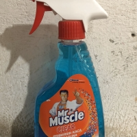 Mr. Muscle Clear pembersih kaca biru 500 ml
