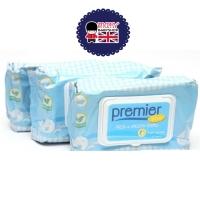 Tissu basah bayi no alcohol wipes baby isi 3 pack premier tissue