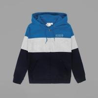 Jaket Hoodie Aeropostale pullover 3 tone blue original not zara nike