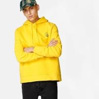 Hoodie Pullover cheap monday oversize tiny skull yellow original