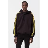 Hoodie Pullover cheap monday oversize tape black yellow original
