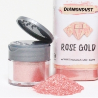 Rose Gold Diamondust The Sugar Art Edible Glitter 3 Gram