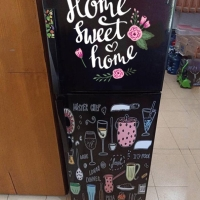 Stiker kulakan 2 pintu full body motif home sweet home 2