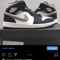 Nike Air Jordan 1 Mid Grey Satin