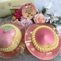 I-bloom jumbo peach ( mengkerut) LICENSED SQUISHY