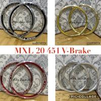 Rims Velg MXL 20 x 1 3.8 Plus 451 V-Brake 20H - 28H Taiwan