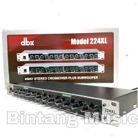 Crossover dbx 224xl plus subwoofer spec XLR balanced