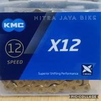 Rantai Chain KMC X12 12 Speed X-Bridge Gold