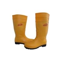 Sepatu Boot Rubber Safety LEOPARD LP-0235 Ujung Besi Steel Tie Proyek