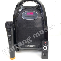 Speaker Portable Amplifier Wireless Krezt HDT 8810 FV