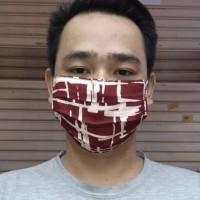 Masker Kain Motif Rayon 2 Lapis / 2 Ply Bahan Katun ( Harga 6pcs )