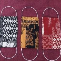 Masker Kain Batik 2 Lapis / 2 Ply Bahan Katun ( Harga 6pcs )