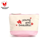 Pouch Dompet Tas Kosmetik Harvest - Young & Beautiful thumbnail