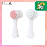 Marvilo Alat Pembersih Muka Silicone dan Bulu Sikat Lembut - Merah Muda thumbnail