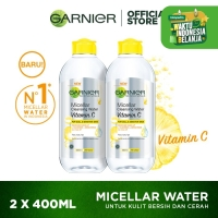 Garnier Micellar Cleansing Water Vitamin C 400 ml Twinpack thumbnail