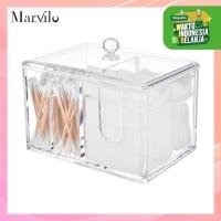 Marvilo Kotak Kapas dan Cotton Bud Akrilik Organizer 2in1 thumbnail