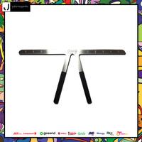 GIMO Penggaris Alis Eyebrow Ruler Measure Shaping Tool - D6XX thumbnail