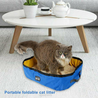 Folding Traveling Bathroom Cleaning Home Outdoor Cat Litter Box
