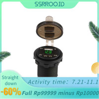 Ssrroo 3 Colors 3.1A Dual USB Car arger Power with Voltmeter DC 12V