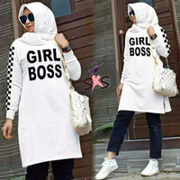 PROMO TUNIK GIRL BOSS TUNIK WANITA JUMBO (BAHAN SPANDEK GOOD QUALITY)