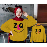 PROMO SWEATER WANITA ZLQ / SWEATER HIJAB FASHION MURAH