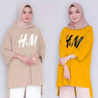 PROMO TUNIK FASHION HM / TUNIK FASHION WANITA MUSLIM BAHAN SPANDEK