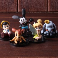5Pcs Set Action Figure wcf pinocchio Bambi miyabell
