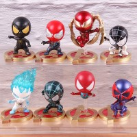 8Pcs Set Action Figure Marvel Avengers cosbaby Spiderman