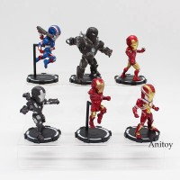 6Pcs Set Action Figure Iron Man Marvel Iron Man