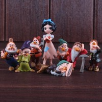 8Pcs Set Action Figure Model Snow White dan the Seven Dwarfs